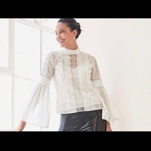 White House Black Market Celine Victorian blouse